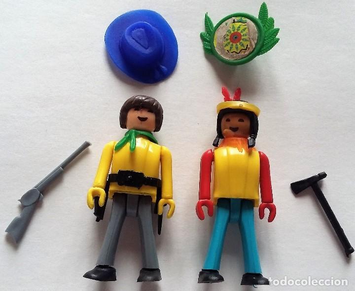 COMAN BOYS. INDIO Y VAQUERO COWBOY CON ACCESORIOS. AÑOS 70 (Juguetes - Figuras de Acción - Coman Boys)