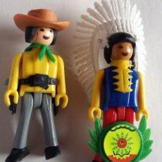 Coman Boys: COMAN BOYS. JEFE INDIO Y COWBOY VAQUERO CON ACCESORIOS AÑOS 70. Lote 139084478