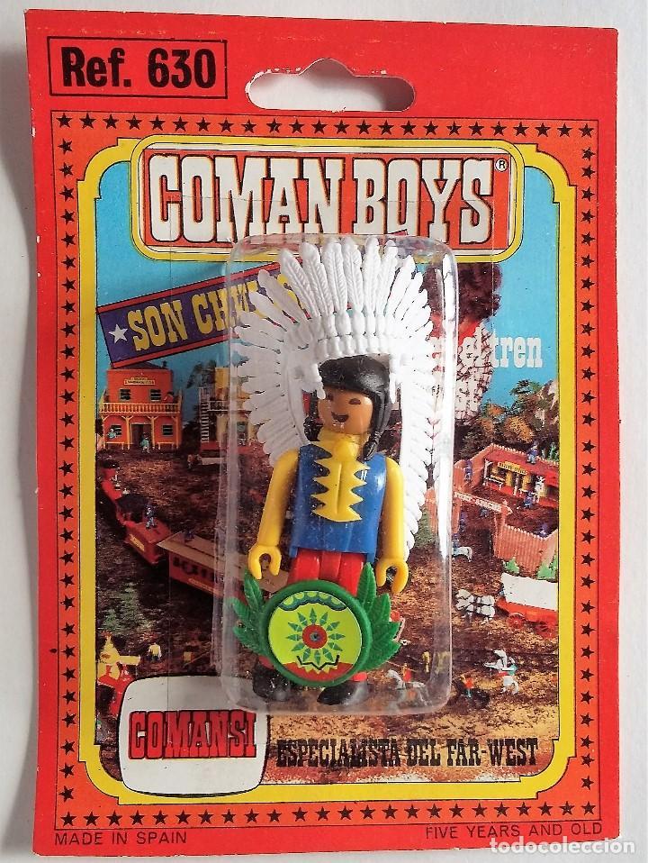 COMAN BOYS. JEFE INDIO 2 AÑOS 70 EN BLISTER ORIGINAL (Juguetes - Figuras de Acción - Coman Boys)