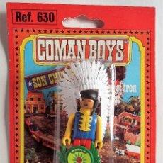 Coman Boys: COMAN BOYS. JEFE INDIO 2 AÑOS 70 EN BLISTER ORIGINAL. Lote 139094590