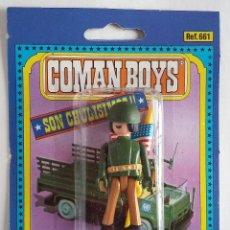 Coman Boys: COMAN BOYS. SOLDADO MORENO NORTEAMERICANO CON BANDERA Y ARMAS AÑOS 70. Lote 139336354