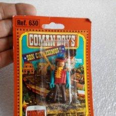 Coman Boys: COMANBOYS COMAN BOYS INDIO EN BLISTER CON PIPA, BLISTER MEDIO DESPEGADO. Lote 158257322