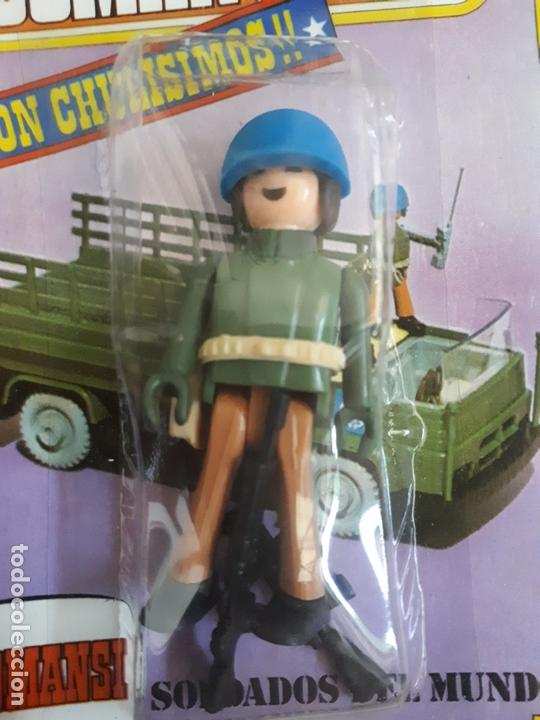 Coman Boys: COMAN BOYS MILITAR SERIE SOLDADOS DEL MUNDO CASCO AZUL REF 661 COMANSI FIGURA BLISTER NUEVO - Foto 2 - 170453160