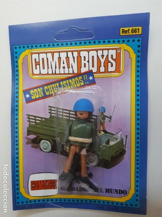 COMAN BOYS MILITAR SERIE SOLDADOS DEL MUNDO CASCO AZUL REF 661 COMANSI FIGURA BLISTER NUEVO (Juguetes - Figuras de Acción - Coman Boys)