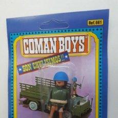 Coman Boys: COMAN BOYS MILITAR SERIE SOLDADOS DEL MUNDO CASCO AZUL REF 661 COMANSI FIGURA BLISTER NUEVO . Lote 170453160
