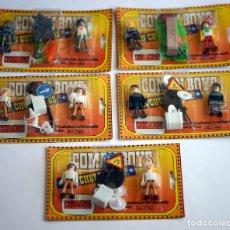 Coman Boys: LOTE DE 5 BLISTER SIN ABRIR CON DOS FIGURAS DE COMAN BOYS. Lote 175023344