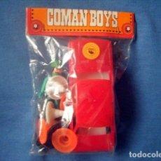 Coman Boys: BLISTER CERRADO COMAN BOYS MECANICO ESSO CON COCHE ROJO Y SEÑALES COMANSI ORIGINAL. Lote 176490830