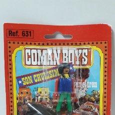 Coman Boys: GUERRERO INDIO A CABALLO DE COMAN BOYS - BLISTER ORIGINAL . REALIZADO POR COMANSI . AÑOS 70. Lote 182214577