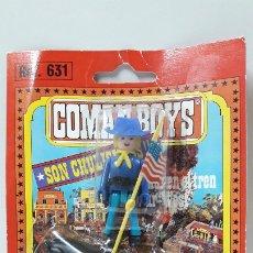 Coman Boys: SOLDADO FEDERAL ABANDERADO A CABALLO DE COMAN BOYS - BLISTER ORIGINAL . COMANSI . AÑOS 70. Lote 182871280