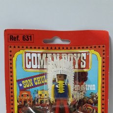 Coman Boys: JEFE INDIO A CABALLO DE COMAN BOYS - BLISTER ORIGINAL . COMANSI . AÑOS 70. Lote 183293932