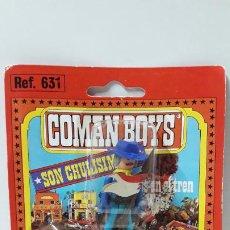 Coman Boys: SOLDADO FEDERAL ABANDERADO A CABALLO DE COMAN BOYS - BLISTER ORIGINAL . COMANSI . AÑOS 70. Lote 183600001