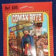 Coman Boys: COMAN BOYS COW BOY, VAQUERO CON ACCESORIOS AÑOS 80 EN BLISTER ORIGINAL. Lote 194297166