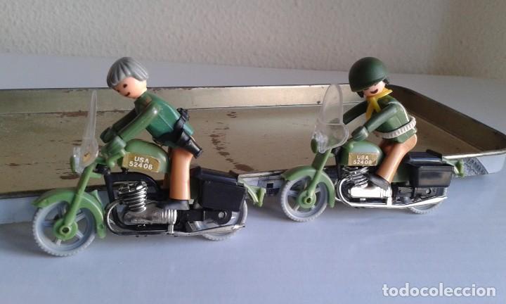 DOS MOTORISTAS COMAN BOYS DE COMANSI. SON CHULÍSIMOS! MOTOS. MILITARES (Juguetes - Figuras de Acción - Coman Boys)