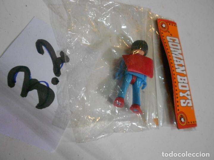 Coman Boys: ANTIGUA FIGURA DE COMAN BOYS SUPERMAN DIFICIL DE ENCONTRAR NUEVA EN SU BLISTER - C-3,2 - Foto 3 - 23950787