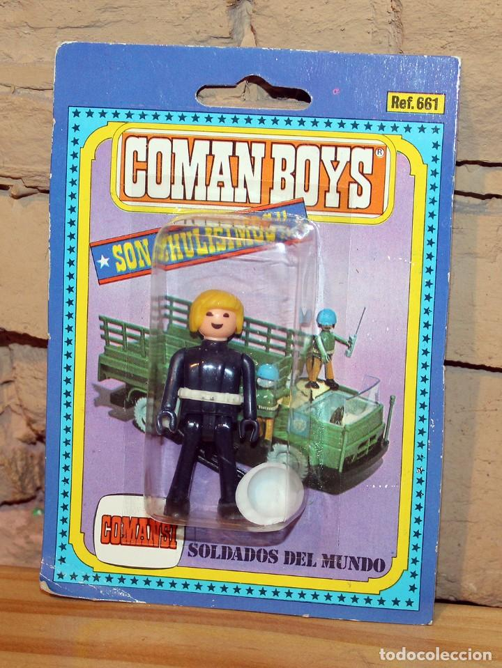 COMAN BOYS - SOLDADOS DEL MUNDO - COMANSI - ANTIGUO BLISTER - NUEVO - NUNCA JUGADO (Juguetes - Figuras de Acción - Coman Boys)