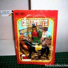 Coman Boys: COMAN BOYS INDIO ARQUERO CON CABALLO NEGRO ( 1970 ).. Lote 211728514