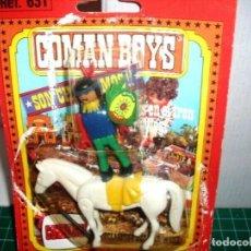 Coman Boys: COMAN BOYS INDIO CON CABALLO Y HACHA ( 1970 ).. Lote 211728641