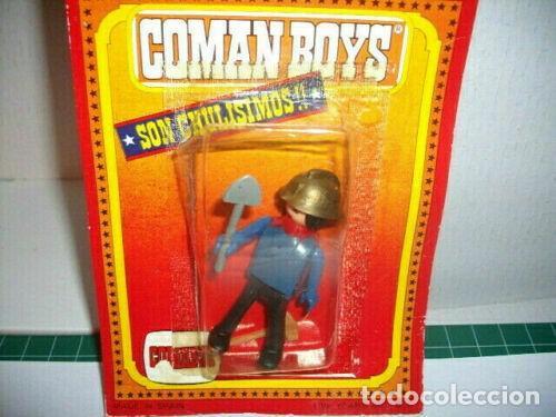 Coman Boys: COMAN BOYS CAMION GRUA DE BOMBEROS, SIN CAJA + 1 BOMBERO EN BLISTER - Foto 3 - 211746394