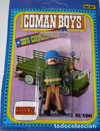 Coman Boys: COMAN BOYS.CAMION DE TRANSPORTE MILITAR ONU CON CAJA + 1 CASCO AZUL - Foto 3 - 211747165