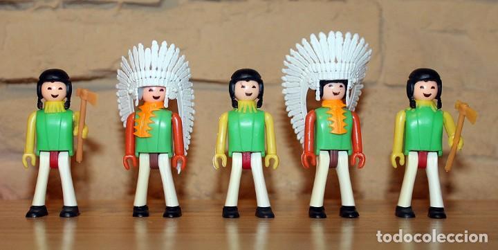 COMAN BOYS - LOTE 5 FIGURAS - SERIE INDIOS AMERICANOS - NUEVOS - COMANSI - COMANBOYS (Juguetes - Figuras de Acción - Coman Boys)