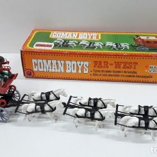 Coman Boys: DILIGENCIA TIRADA POR SEIS CABALLOS DE COMAN BOYS - REF 623 . CAJA ORIGINAL . ORIGINAL AÑOS 70 / 80. Lote 224435338