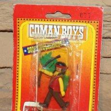 Coman Boys: COMAN BOYS - BLISTER INDIO CON ARCO, FLECHAS Y ESCUDO - NUEVO, SIN USO - REF. 630 - OESTE. Lote 227569660