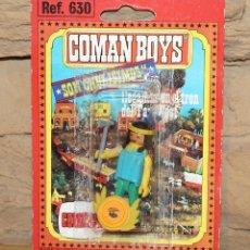 Coman Boys: COMAN BOYS - BLISTER INDIO CON HACHA Y ESCUDO - NUEVO, SIN USO - REF. 630 - OESTE. Lote 227569740
