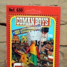Coman Boys: COMAN BOYS - BLISTER FIGURA INDIO - REF. 630 - NUEVO, SIN USO - OESTE. Lote 227572495