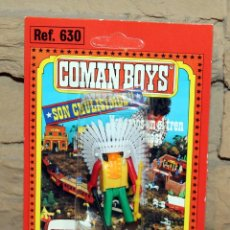 Coman Boys: COMAN BOYS - BLISTER FIGURA INDIO - REF. 630 - NUEVO, SIN USO - OESTE. Lote 227572520
