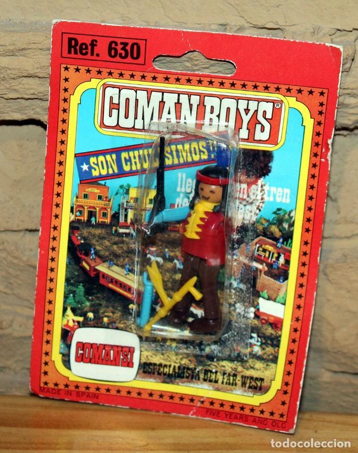 COMAN BOYS - BLISTER FIGURA INDIO - REF. 630 - NUEVO, SIN USO - OESTE (Juguetes - Figuras de Acción - Coman Boys)