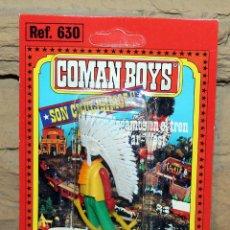 Coman Boys: COMAN BOYS - BLISTER FIGURA INDIO - REF. 630 - NUEVO, SIN USO - OESTE. Lote 227572595