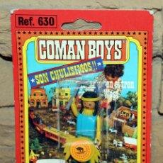 Coman Boys: COMAN BOYS - BLISTER FIGURA INDIO - REF. 630 - NUEVO, SIN USO - OESTE. Lote 227572620