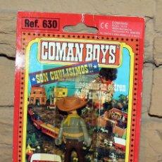 Coman Boys: COMAN BOYS - BLISTER FIGURA VAQUERO O COWBOY - REF. 630 - NUEVO, SIN USO - OESTE. Lote 227574400