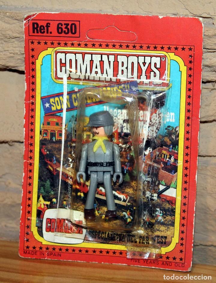 COMAN BOYS - BLISTER FIGURA SOLDADO CONFEDERADO - REF. 630 - NUEVO, SIN USO - OESTE (Juguetes - Figuras de Acción - Coman Boys)