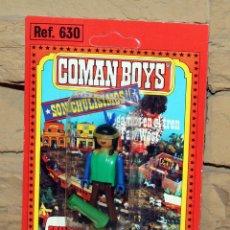 Coman Boys: COMAN BOYS - BLISTER FIGURA INDIO - REF. 630 - NUEVO, SIN USO - OESTE. Lote 227574645