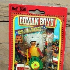 Coman Boys: COMAN BOYS - BLISTER FIGURA INDIO - REF. 630 - NUEVO, SIN USO - OESTE. Lote 227574670