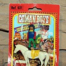 Coman Boys: COMAN BOYS - BLISTER FIGURA INDIO Y CABALLO - NUEVO, SIN USO - OESTE. Lote 227574855
