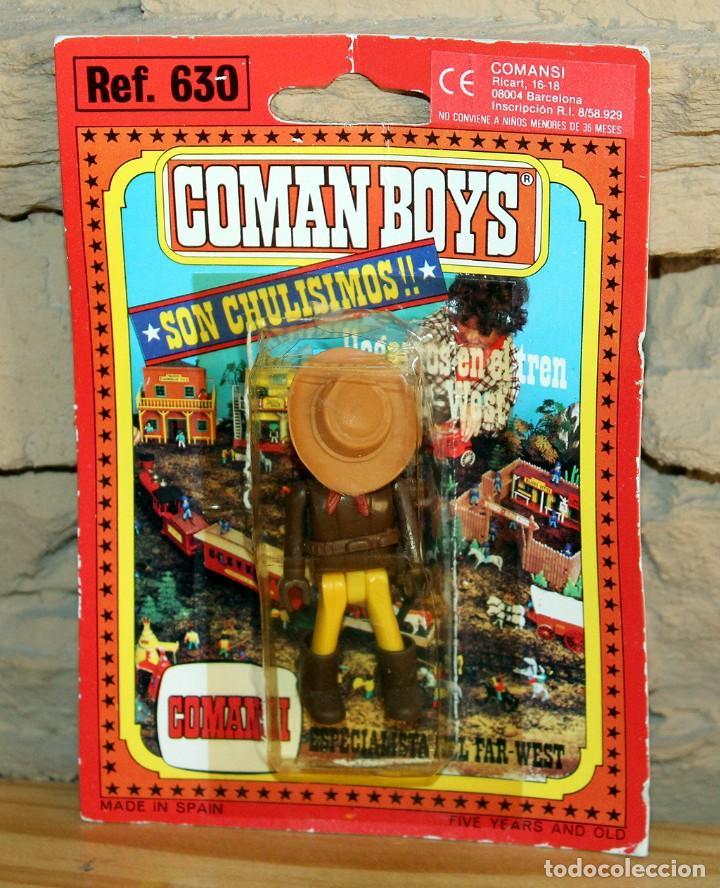 COMAN BOYS - BLISTER FIGURA VAQUERO O COWBOY - REF. 630 - NUEVO, SIN USO - OESTE (Juguetes - Figuras de Acción - Coman Boys)