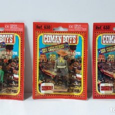 Coman Boys: TRES BLISTER DE VAQUEROS - COMAN BOYS . REALIZADO POR COMANSI . REF 630 ULTIMAS SERIES. Lote 236121545
