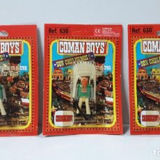 Coman Boys: TRES BLISTER DE INDIOS - COMAN BOYS . REALIZADO POR COMANSI . REF 630 ULTIMAS SERIES. Lote 236121935
