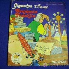 Cómics: GIGANTES DISNEY.........BENJAMINN FRANKLIN........BURU LAN 1973. Lote 7803860