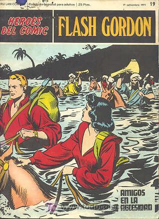 FLASH GORDON Nº 19 - HEROES DEL COMIC - BURU LAN (Tebeos y Comics - Buru-Lan - Flash Gordon)
