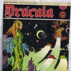 Cómics: DRÁCULA Nº 1 EDITORIAL BURU LAN BURULAN 1972 EXPLORADORES DEL ESPACIO. Lote 5405329