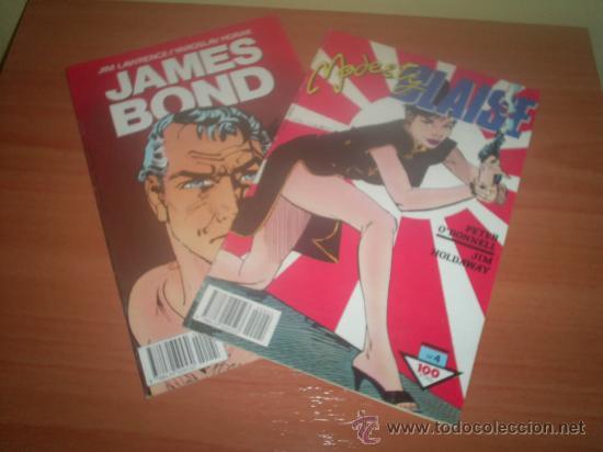 LOTE DOS COMICS DE JAMES BOND Y MODESTY PLAISE , NUMEROS 4 LOS DOS (Tebeos y Comics - Buru-Lan - James Bond)