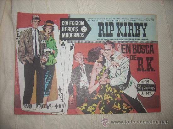 HEROES MODERNOS. SERIE C. Nº15. RIP KIRBY (Tebeos y Comics - Buru-Lan - Rip Kirby)