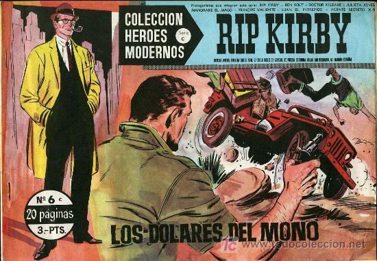 RIP KIRBY - COLECCIÓN HEROES MODERNOS Nº 6 SERIE C - 1958 (Tebeos y Comics - Buru-Lan - Rip Kirby)