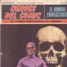 Cómics: HEROES DEL COMIC - Nº1 EL HOMBRE ENMASCARADO - EL HOMBRE ENMASCARADO EN LONDRES (29 ENERO 1971). Lote 27605569