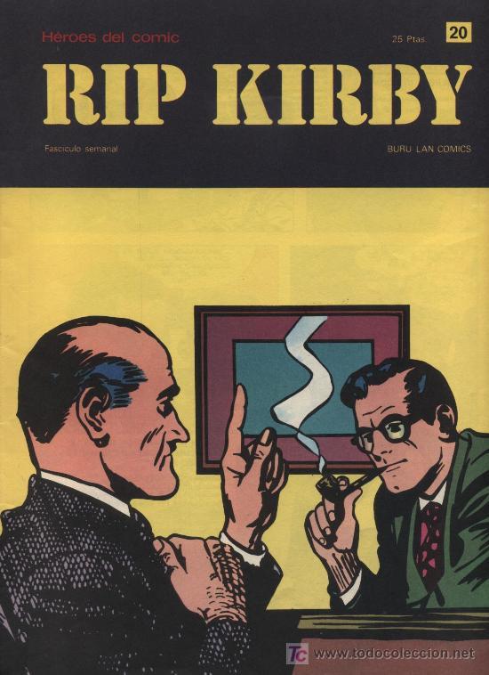 RIP KIRBY. HEROES DEL COMIC. BURU LAN. Nº 20 (Tebeos y Comics - Buru-Lan - Rip Kirby)