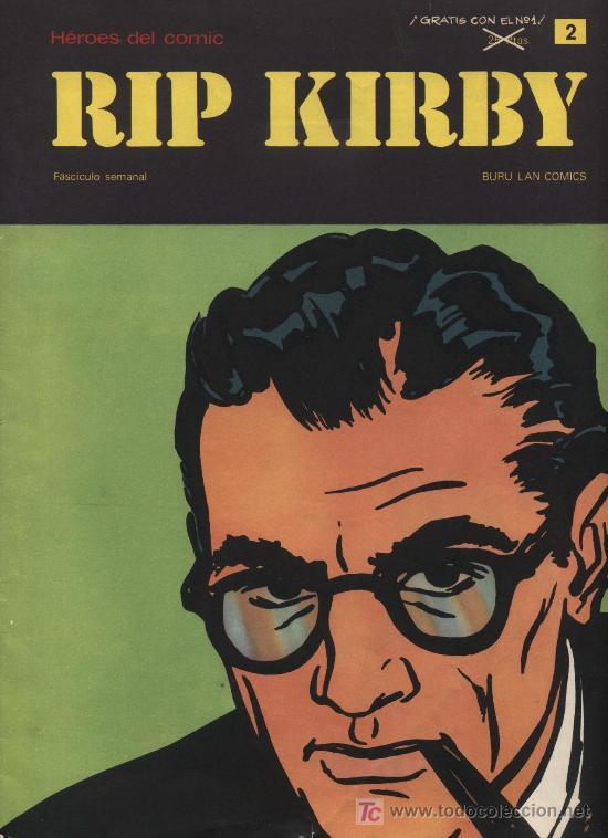 RIP KIRBY. HEROES DEL COMIC. BURU LAN. Nº 2 (Tebeos y Comics - Buru-Lan - Rip Kirby)