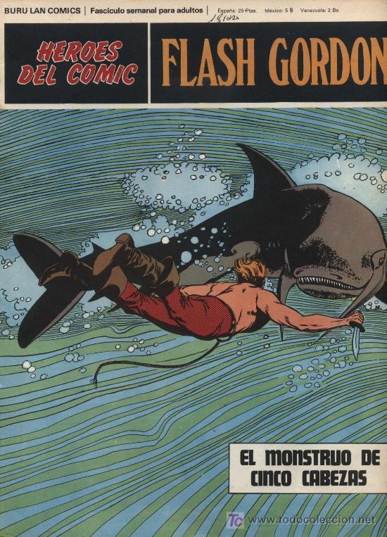 FLASH GORDON. HEROES DEL COMIC. BURU LAN Nº 79 (Tebeos y Comics - Buru-Lan - Flash Gordon)